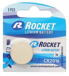 Rocket CR2016 3V Bateria