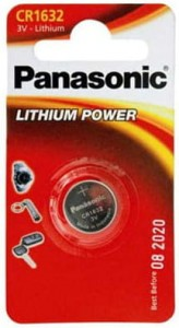 Panasonic CR1632 3V Bateria