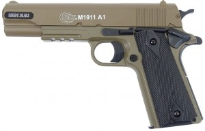 Cybergun Pistolet ASG Colt 1911A1 HPA Metal Side Tan 180126