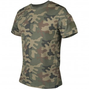 Helikon T-Shirt Tactical TopCool PL Woodland TS-TTS-TC-04